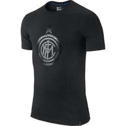 Inter Milan t-shirt t-shirt Authentic logo black Nike