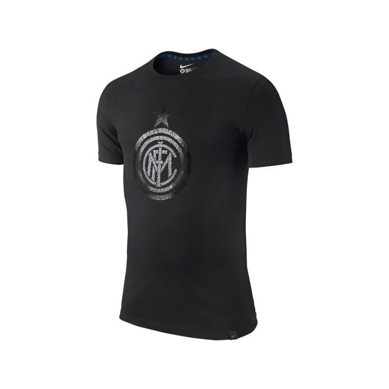 L'Inter Milan t-shirt t-shirt Authentique logo noir Nike