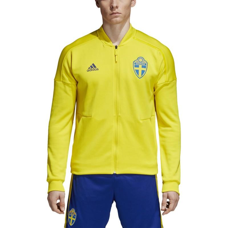 Svezia SVFF felpa ZNE Jacket pre gara gialla 201819 Adidas