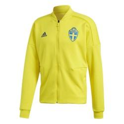 Svezia SVFF felpa ZNE Jacket pre gara gialla 2018/19 Adidas
