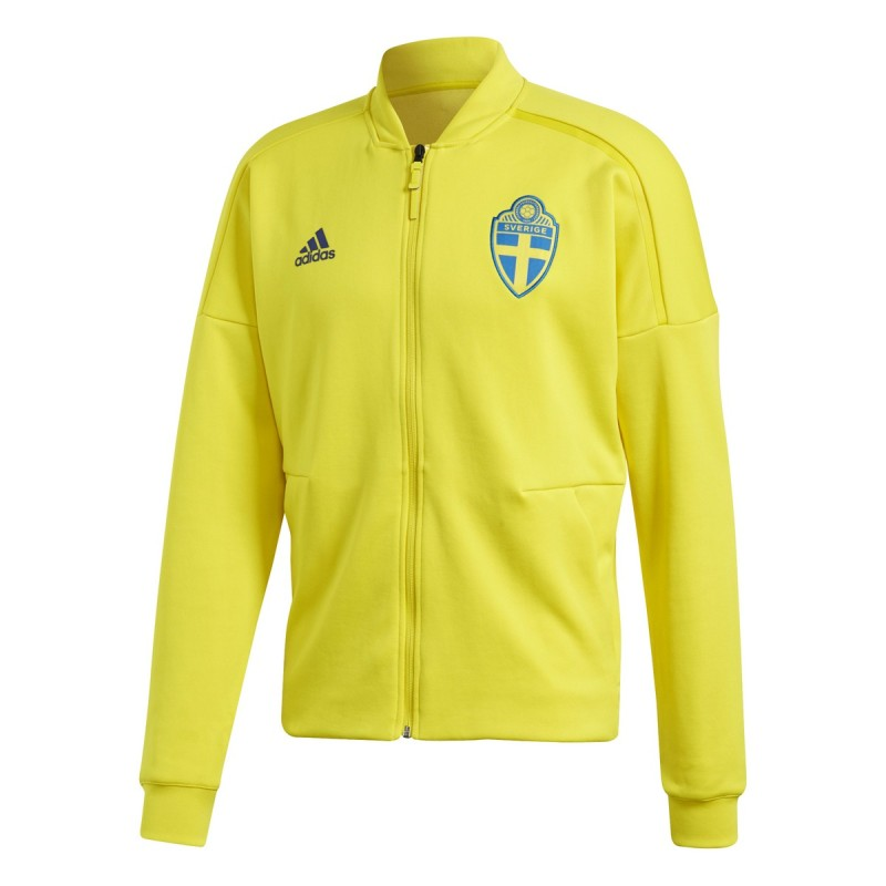 Sweden SVFF fleece ZNE Jacket pre-race yellow 2018/19 Adidas