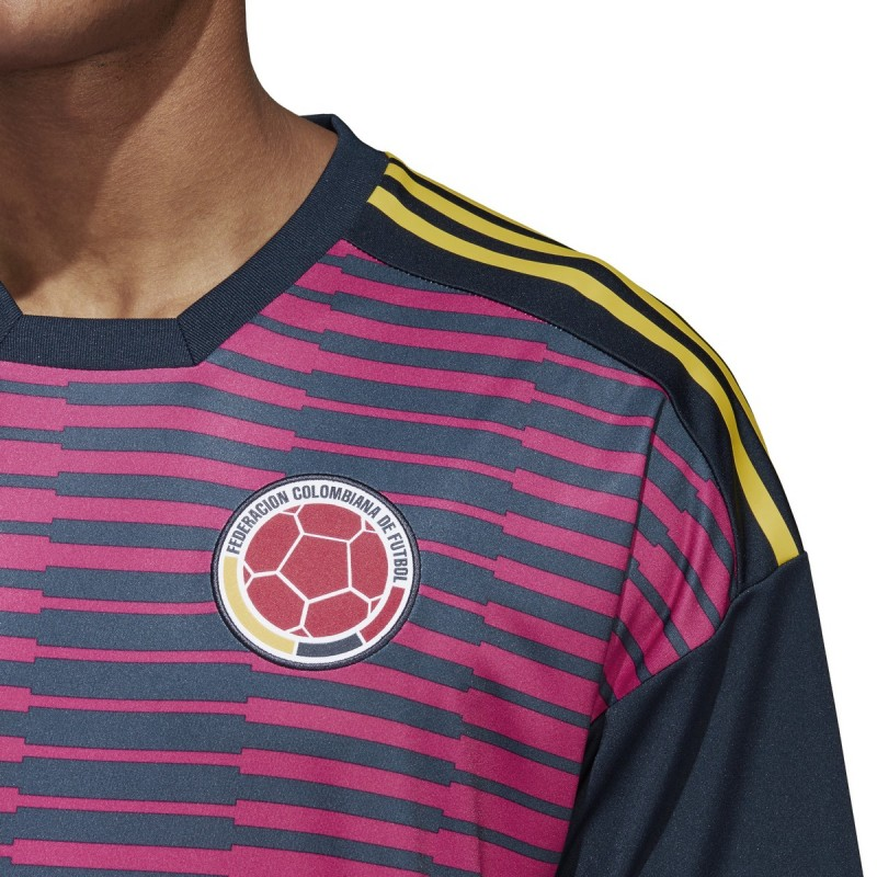 af7ebcc51 Colombia FCF jersey pre match pink 2018 19 Adidas