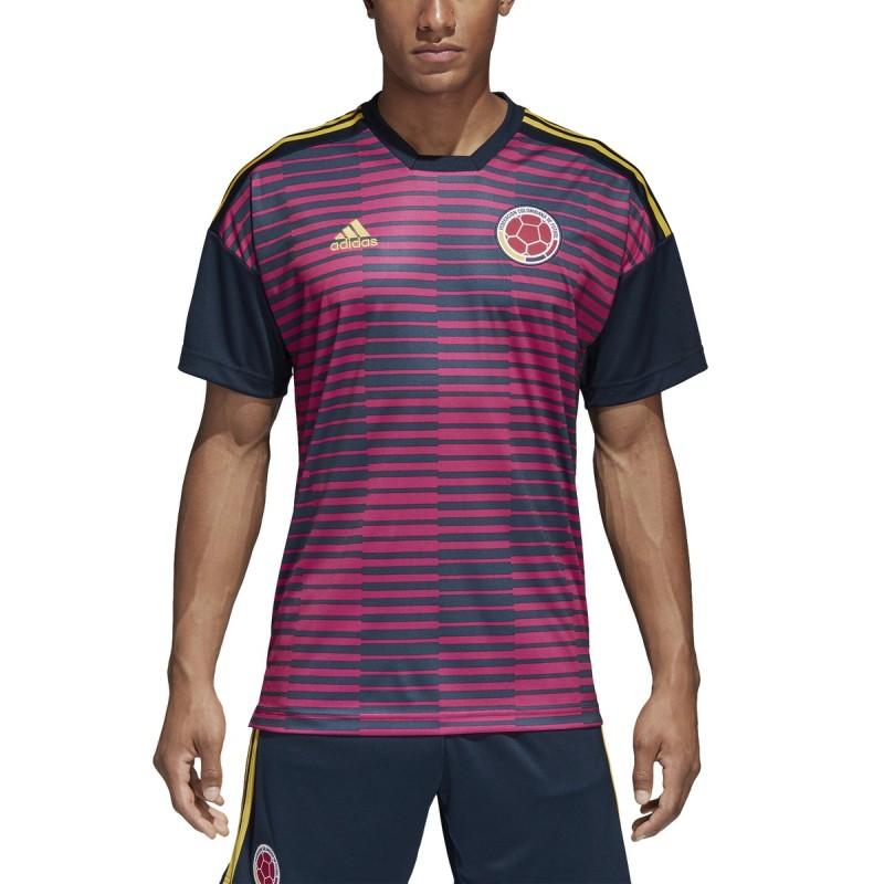 Colombia FCF maglia pre partita rosa 2018/19 Adidas