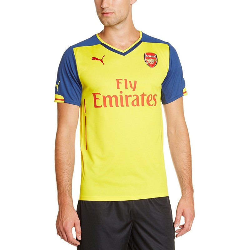 Arsenal maglia away gialla 2014/15 Puma