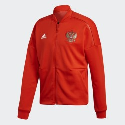 La russie RFU sweat-shirt ZNE Veste Anthem pré-course rouge 2018/19 Adidas
