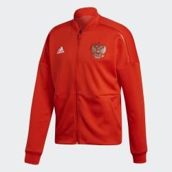Russia RFU sweatshirt ZNE Anthem Jacket pre-race red 2018/19 Adidas