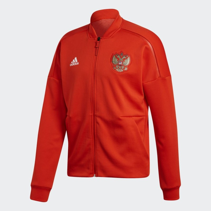 Russia RFU sweatshirt ZNE Anthem Jacket pre-race red 2018/19 Adidas