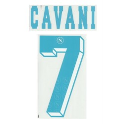 Napoli Cavani 7 personalizzazione maglia away 2012/13