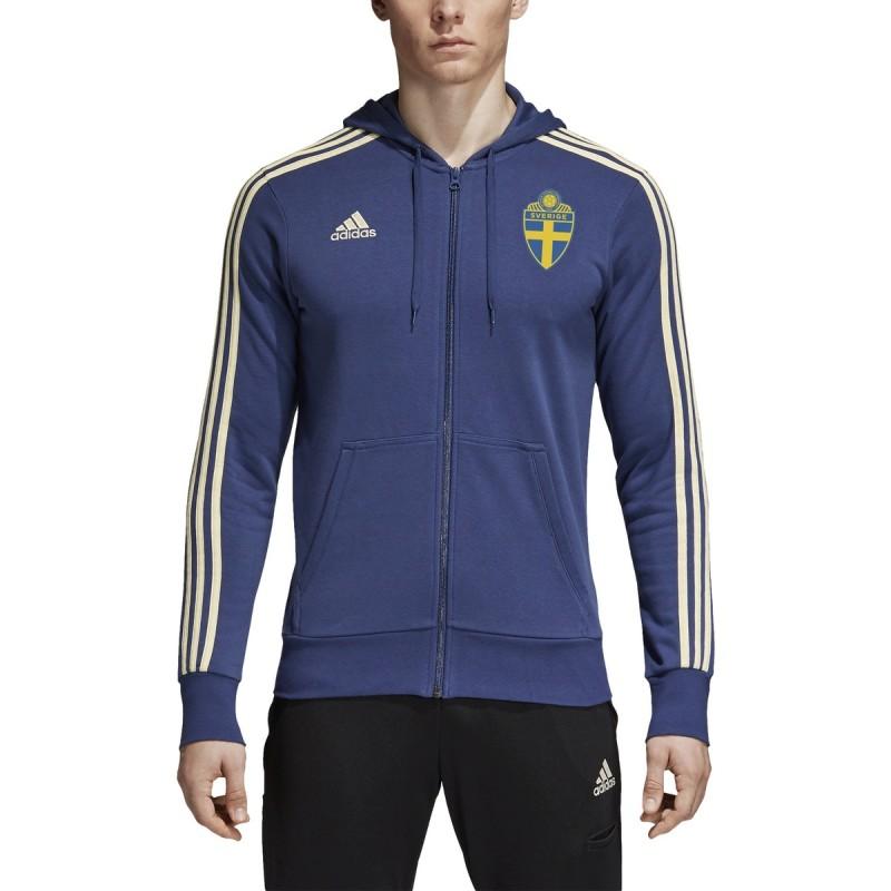SVFF schweden sweatshirt 3 Stripes mit kapuze 2018/19 Adidas