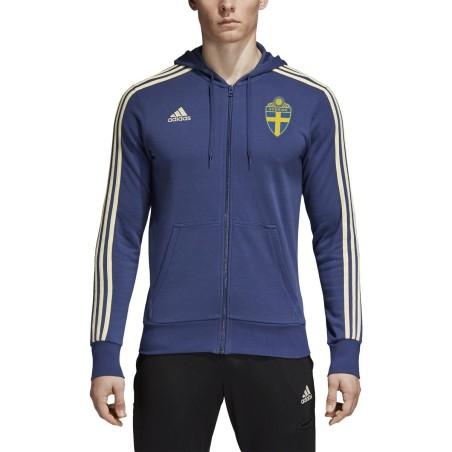 Svezia SVFF felpa 3 Stripes con cappuccio 2018/19 Adidas