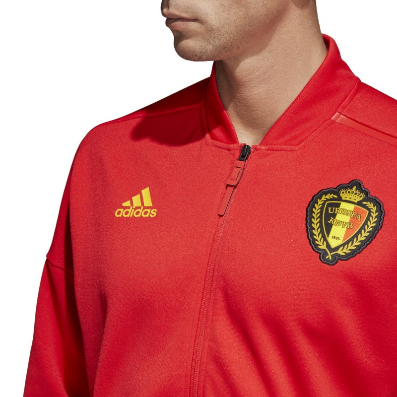 Belgique RBFA sweat shirt ZNE Veste pré course rouge 201819