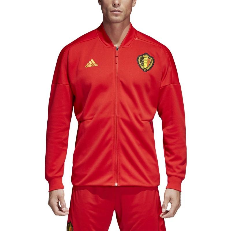 Belgio RBFA felpa ZNE Jacket pre gara rossa 2018/19 Adidas