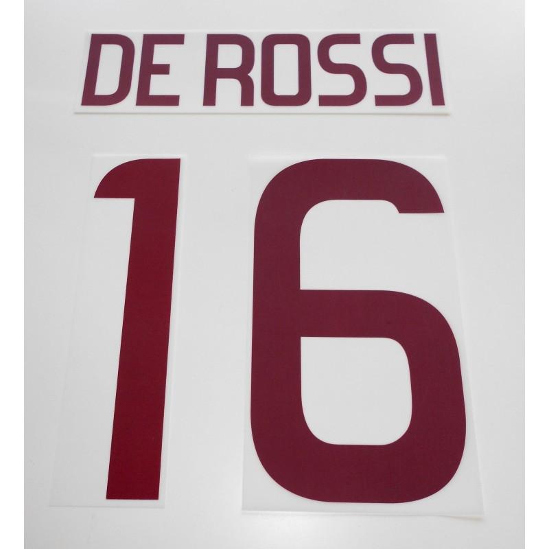 Roma De Rossi 16 personalizzazione maglia home 2011/12