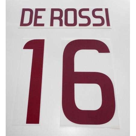 Roma De Rossi 16 personalizzazione maglia away 2011/12