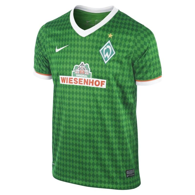 El Werder Bremen jersey casa verde chico 2013/14 Nike