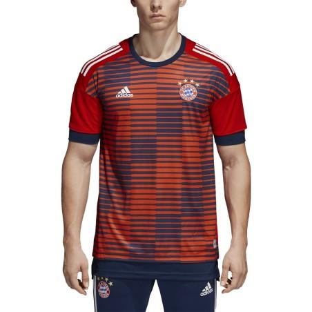 Bayern Munich maillot de pré-course rouge 2017/18 Adidas