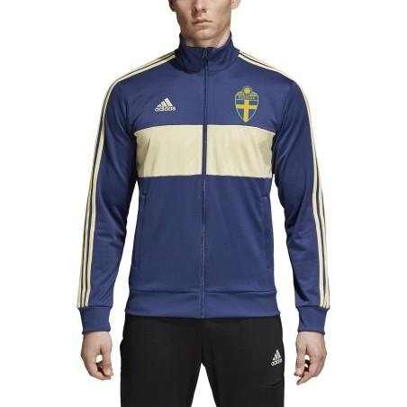 Svezia SVFF felpa track top 3 stripes blu 2018/19 Adidas