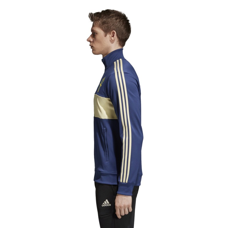 schweden svff sweatshirt track top 3 streifen blau adidas 2018 19. Black Bedroom Furniture Sets. Home Design Ideas