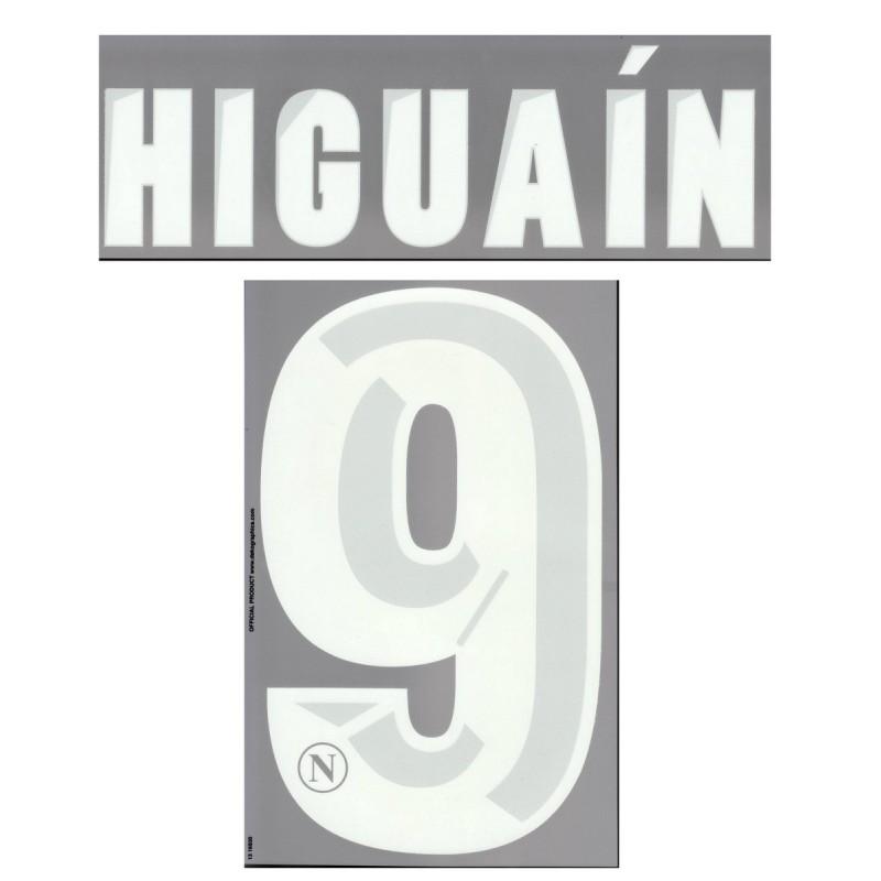 Napoli Higuain 9 personalizzazione maglia home 2013/14