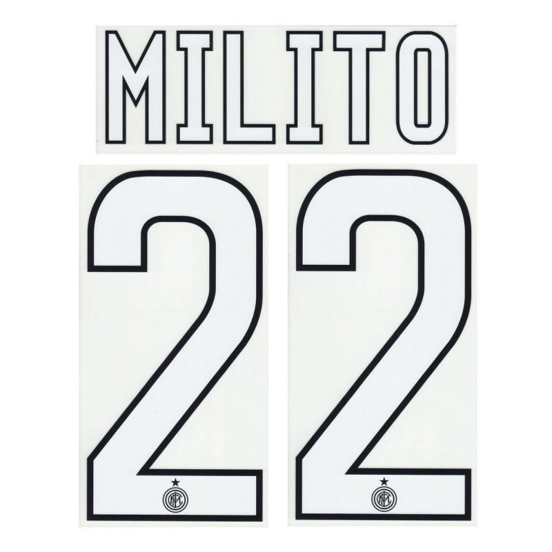 Inter Milito 22 personalizzazione maglia home 2009/10