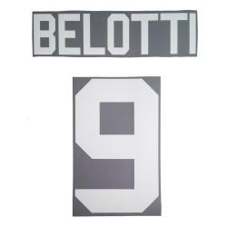 Turín Belotti 9 personalización de la camisa de la casa de 2017/18