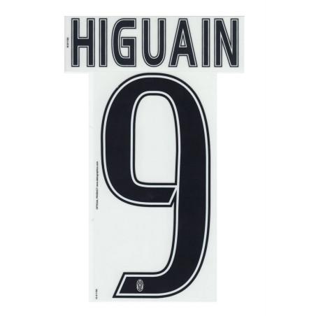 La Juventus 9 Higuain nom et le numéro du maillot domicile de troisième 2016/17