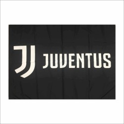 Juventus bandiera logo JJ cm 140 x 100 nera ufficiale