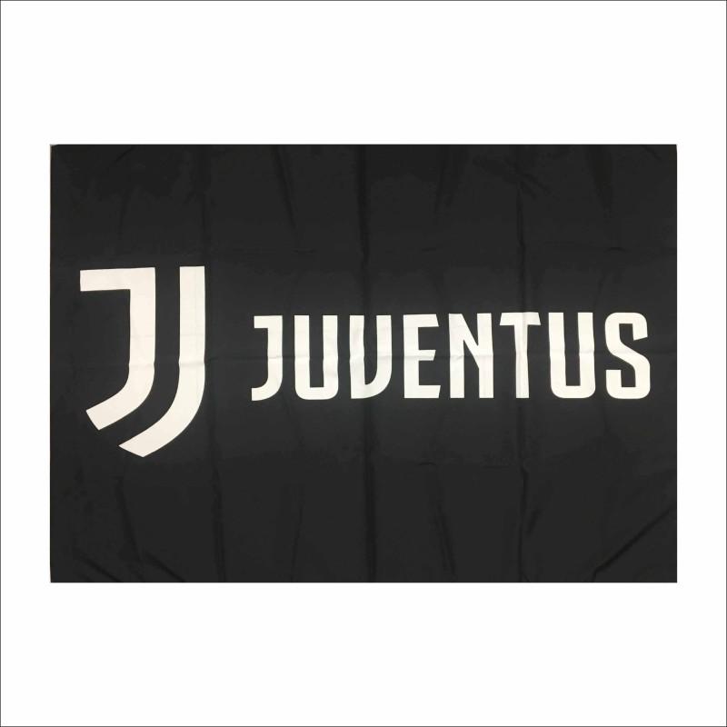 La Juventus logo drapeau JJ cm 140 x 100 noir officiel