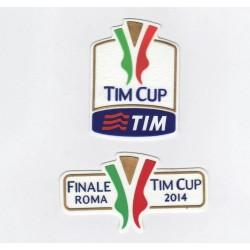 Patch TIM CUP + finale Roma Coppa Italia 2013/14