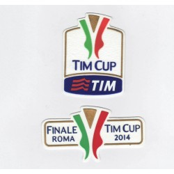 Patch TIM CUP + finale Roma Coppa Italia 2013/14