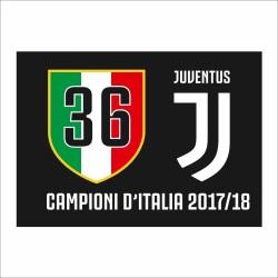 Flag Juventus 36 shield 100x140 cm JJ Italian Champions 2017/18