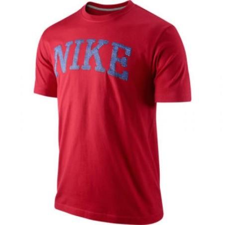 Nike camiseta roja de manga corta