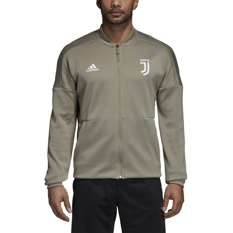 Juventus felpa ZNE Jacket pre gara grigia 2018/19 Adidas