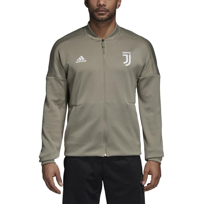 Sweat-shirt de la Juventus ZNE Veste d'avant course gris 2018/19 Adidas