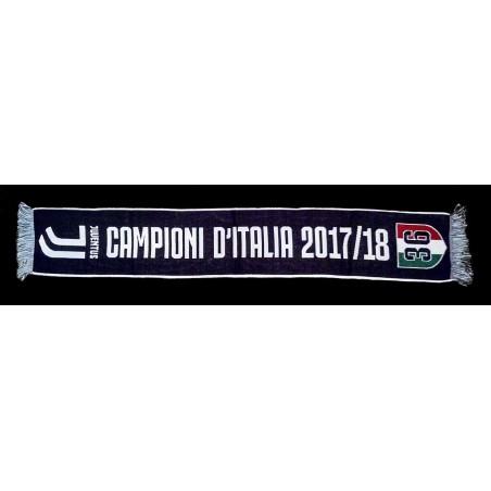 Sciarpa Juventus 36 Scudetto campioni d'Italia 2017/18 ufficiale