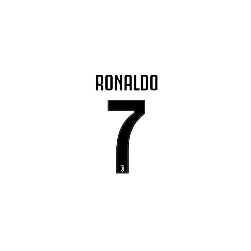 La Juventus 7 Ronaldo nom et le numéro maillot domicile 2018/19