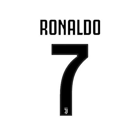 Juventus 7 Ronaldo nome e numero maglia home 2018/19
