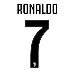 Juventus 7 Ronaldo name and number home shirt 2018/19