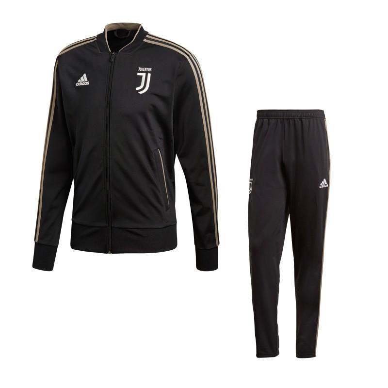 La Juventus de survêtement banc noir 2018/19 Adidas