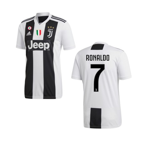 La Juventus 7 Ronaldo maillot domicile Adidas 2018/19