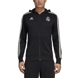 Le Real Madrid sweat-shirt 3 Stripes hooded 2018/19 Adidas