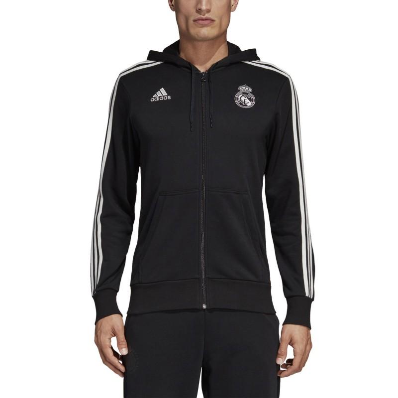 Sweat-shirt de la Juventus 3 Stripes hooded 2018/19 Adidas