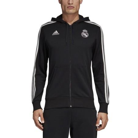 Le Real Madrid sweat-shirt 3 Stripes hooded 2018/19 Adidas