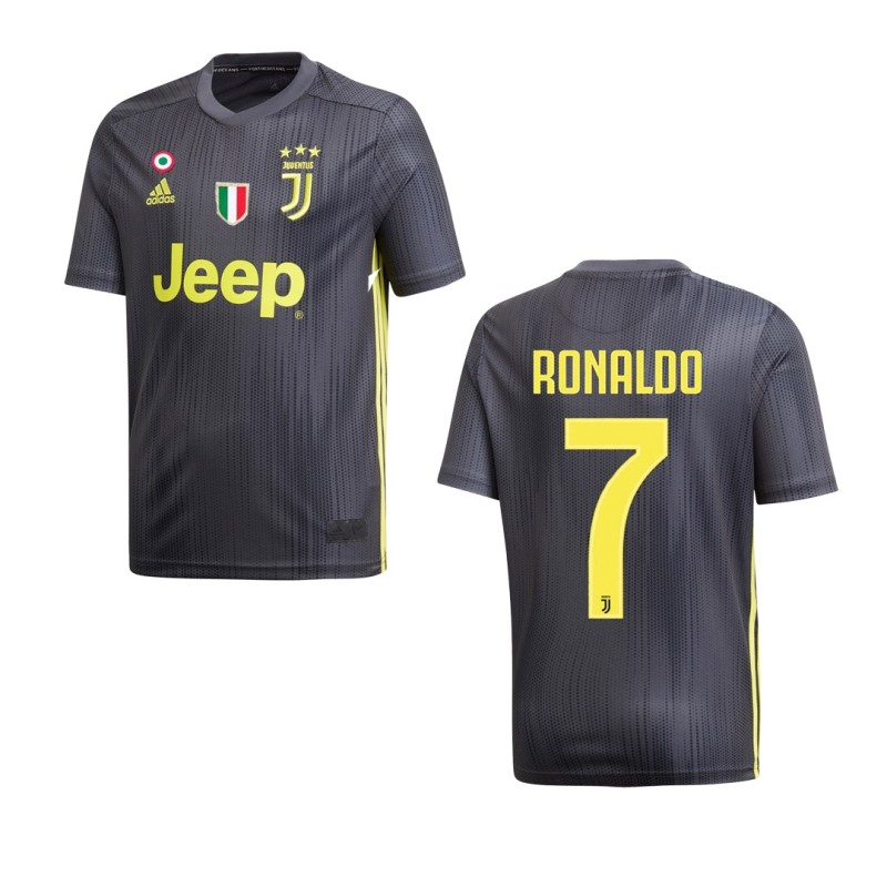 the best attitude bcc8d d5972 Juventus 7 Ronaldo jersey child third 3rd junior 2018/19 Adidas