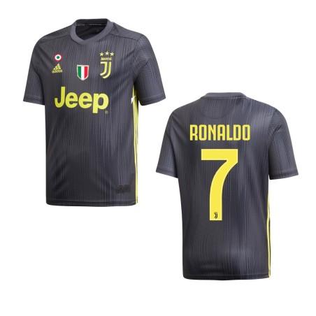 La Juventus 7 Ronaldo maillot enfant troisième 3ème junior 2018/19 Adidas