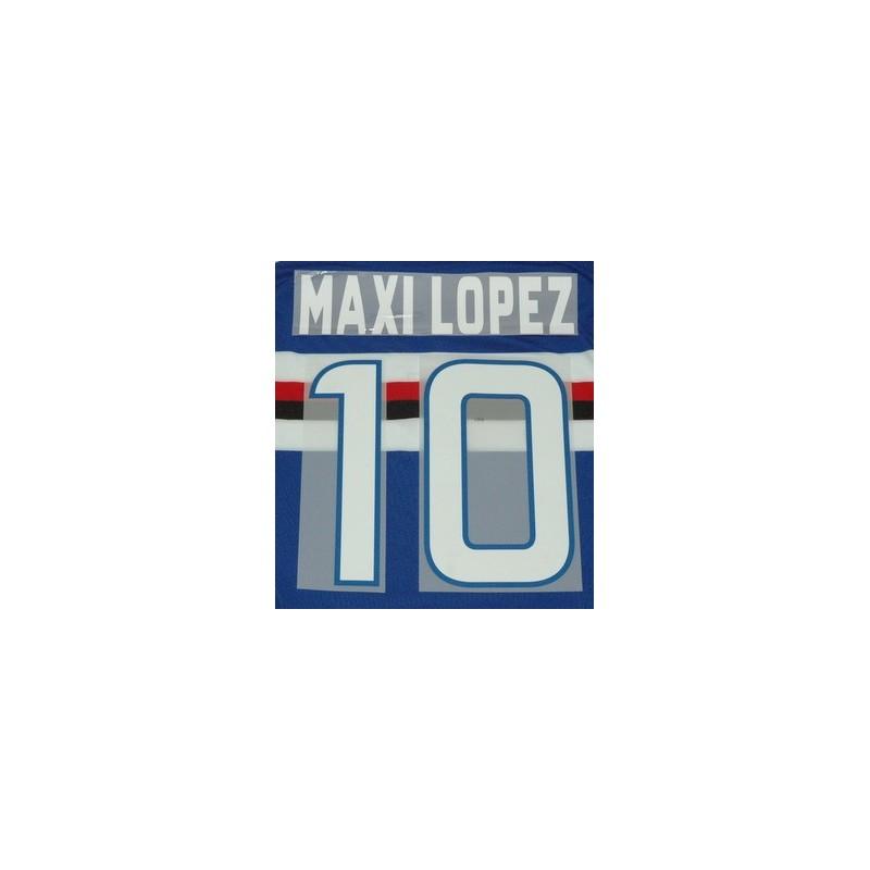 Pour Sampdoria Maxi Lopez 10 personnalisation maillot domicile 2012/13
