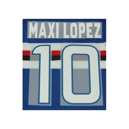 For Sampdoria Maxi Lopez 10 customizing home shirt 2012/13