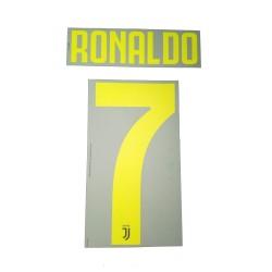 La Juventus 7 Ronaldo nombre y número de la camiseta de tercer tercio 2018/19
