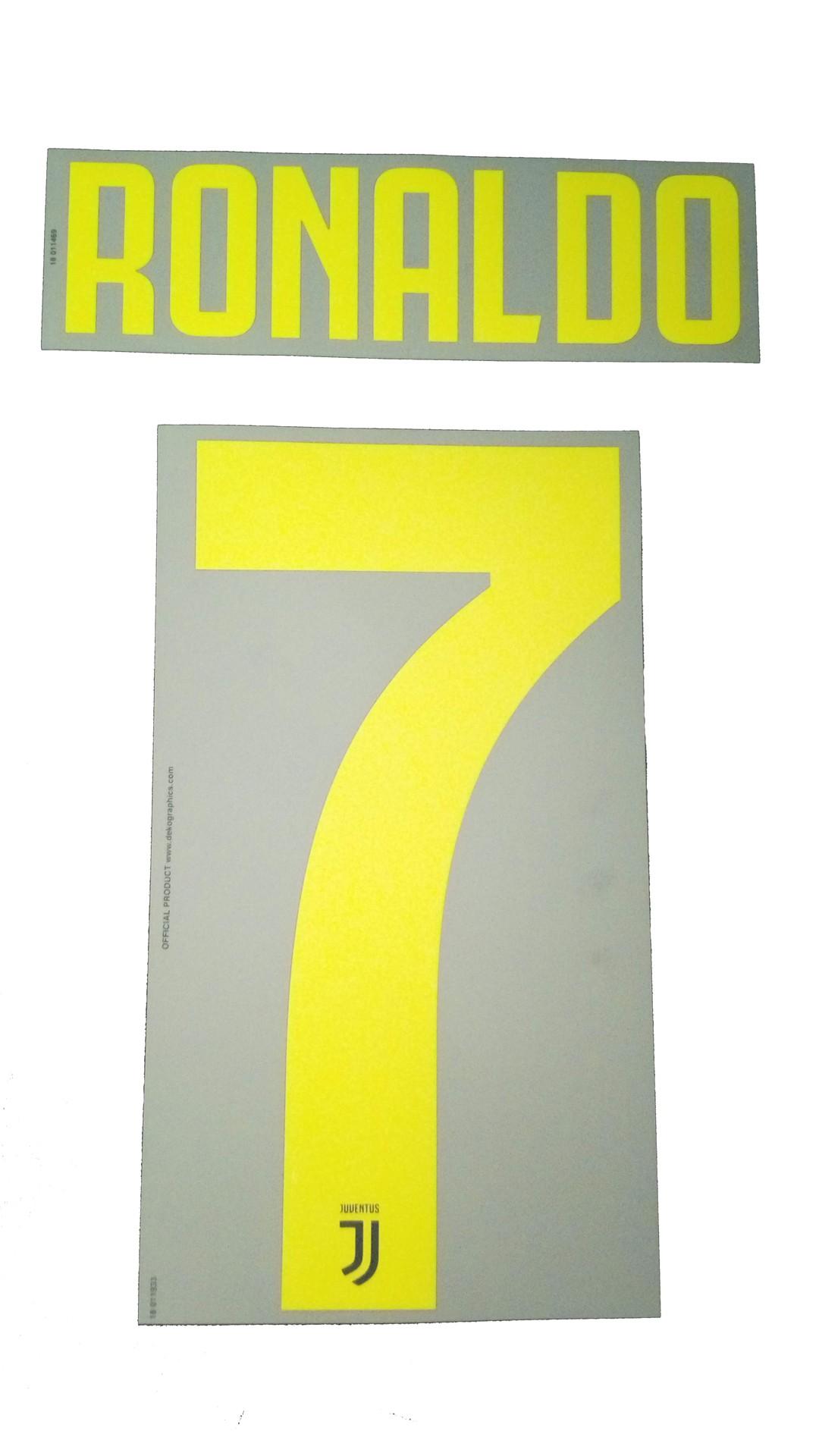 Juventus 7 Ronaldo name and number home shirt dfa683cbdc897