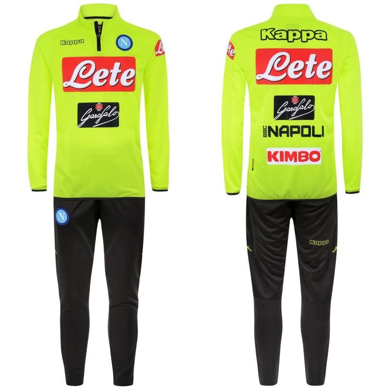 Napoli tuta allenamento Aldebuo gialla 2018/19 Kappa